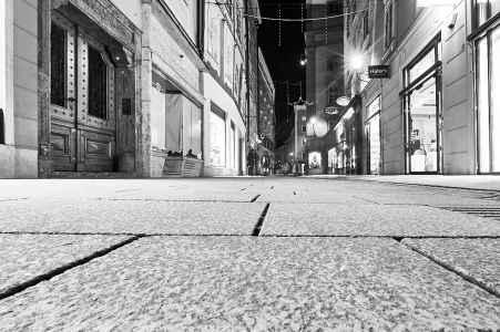 Die Altstadt Salzburg in der Nacht