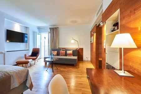 Eines der wunderbaren Zimmer im Hotel Auersperg in Salzburg