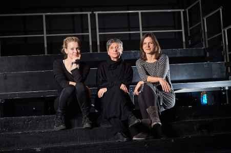 Das Trio der Geschaeftsfuehrung vom Theater Toihaus Salzburg