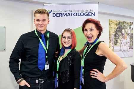 das Organisationsteam der Firma iVent am Dermatologenkongress in Salzburg
