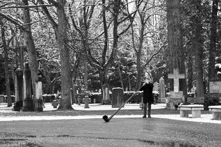 Verabschiedung von Valerie am Friedhof Salzburg